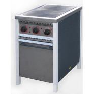 Плита промышленная энергосберегающая ПЕ-2Ш Ч с духовкой