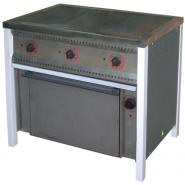 Плита промышленная энергосберегающая ПЕ-3Ш Ч с духовкой